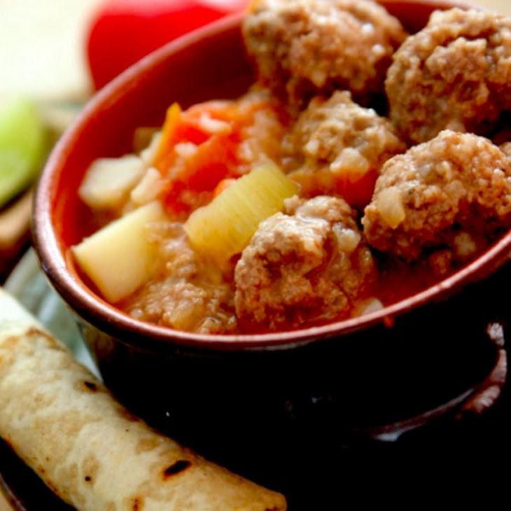 Mexican Meatball Soup Recipe Recipe | Soup comfort | Pinterest