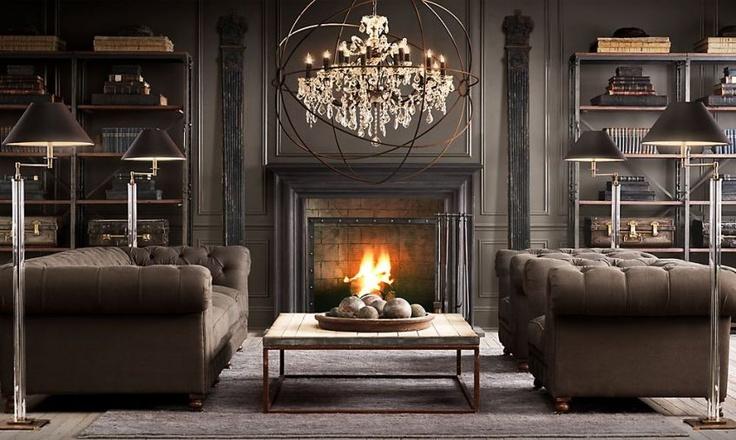 restoration hardware living room home necessities pinterest