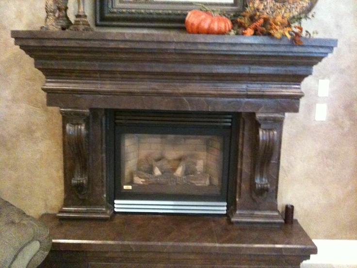 Faux Painted Cement Fireplace Decorating Pinterest