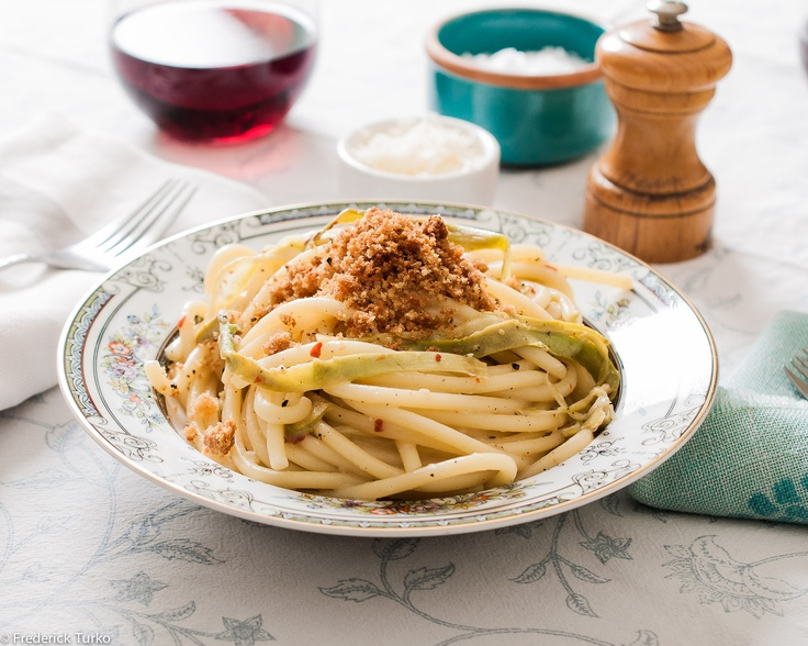Bucatini with Shaved Asparagus & Fresh Breadcrumbs Serves 4 ...