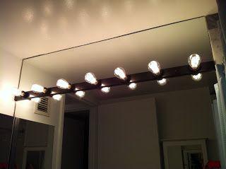 edison bulbs on vanity light strip light it up pinterest. Black Bedroom Furniture Sets. Home Design Ideas