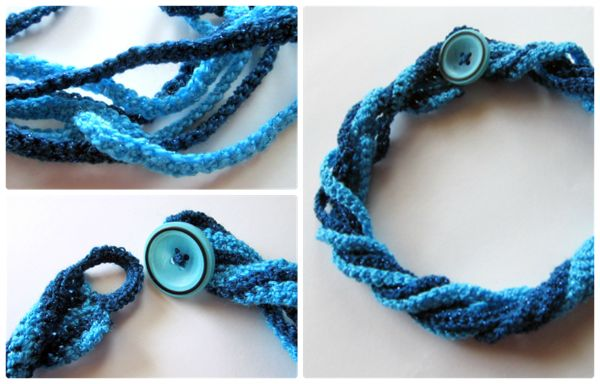 Free Crochet Ring Jewelry Patterns : Quick, easy crocheted necklace to make. colares Pinterest