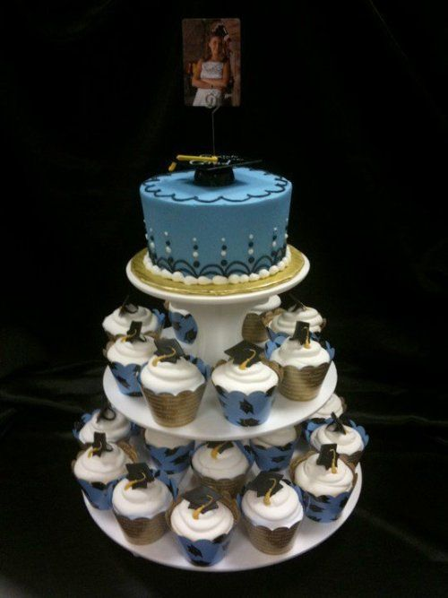 Graduation Cupcakes Let them eat cake! Pinterest