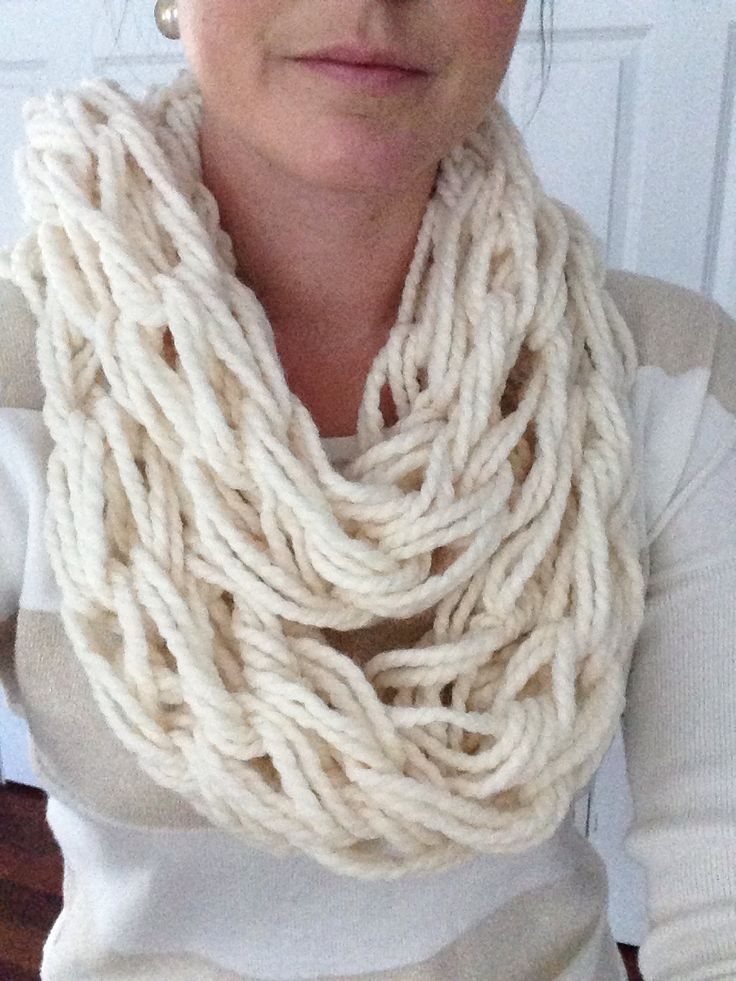 Arm knitted infinity scarf cool stuff to craft pinterest
