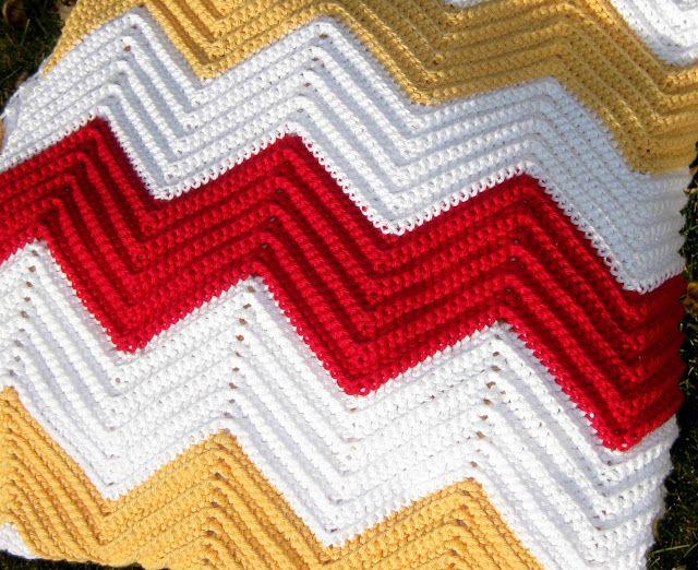 Chevron Crochet Blanket Pattern Crochet Pinterest