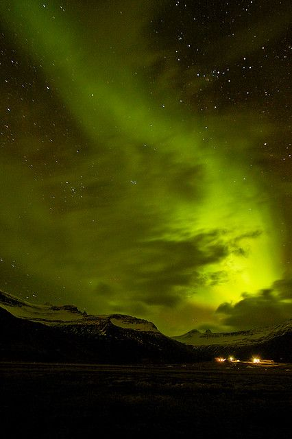Faskrudsfjordur Iceland  city photo : Northern lights in Faskrudsfjordur, Iceland