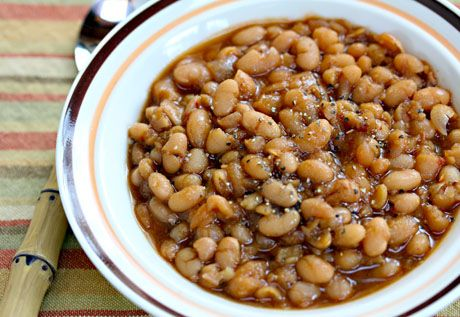 Slow cooker vegetarian chipotle baked beans, from The Perfect Pantry