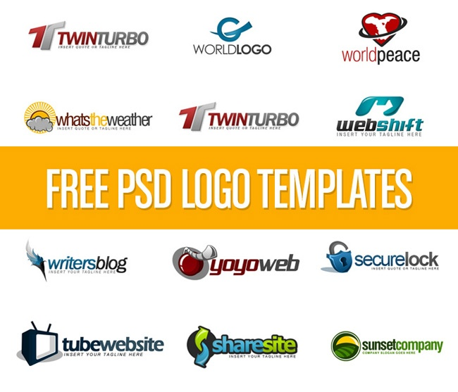 Free PSD Logo templates | Photoshop Rocks | Pinterest