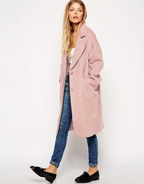 Pink ASOS Cocoon Coat £85
