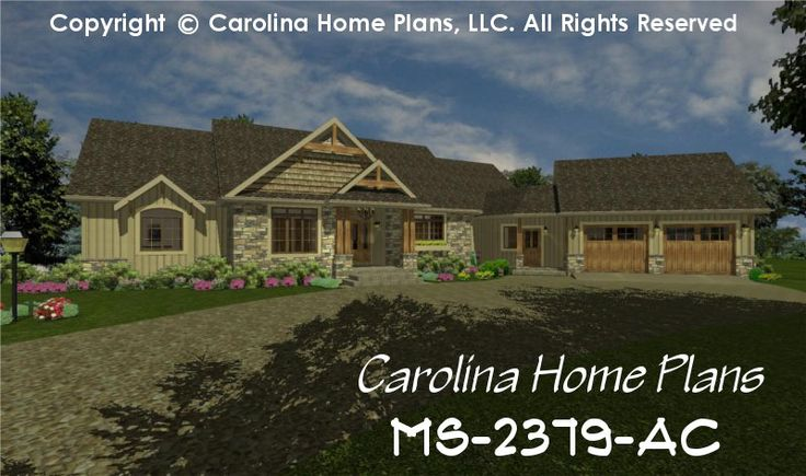 Pin by carolina home plans llc on open floor plans for Carolina home plans