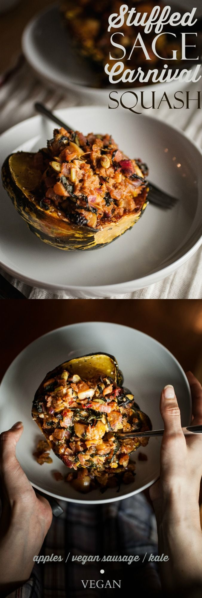 Produce On Parade - Stuffed Sage Carnival Squash - This is an easy and ...