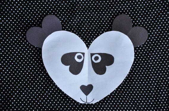 Panda template kids - photo#12