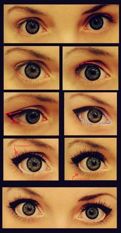 Как с помощью макияжа сделать узкие глаза 988