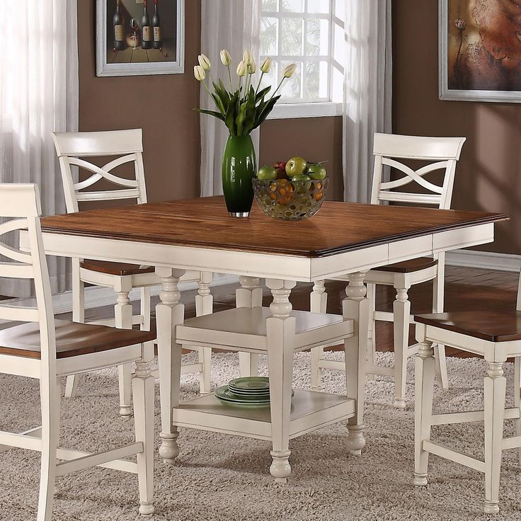 Dining table counter dining table storage - High top dining table with storage ...