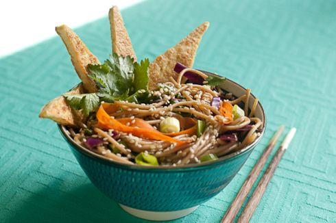... noodles with pan fried tofu quick vegan gorgeous sesame noodle salad