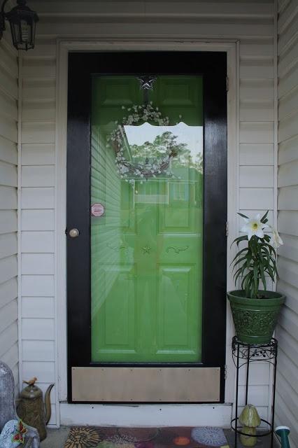 Apple Green Tropical Front Door Home Pinterest