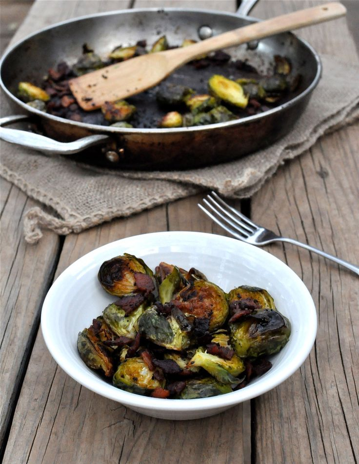 Roasted Bacon Balsamic Brussels Sprouts | Delicious | Pinterest