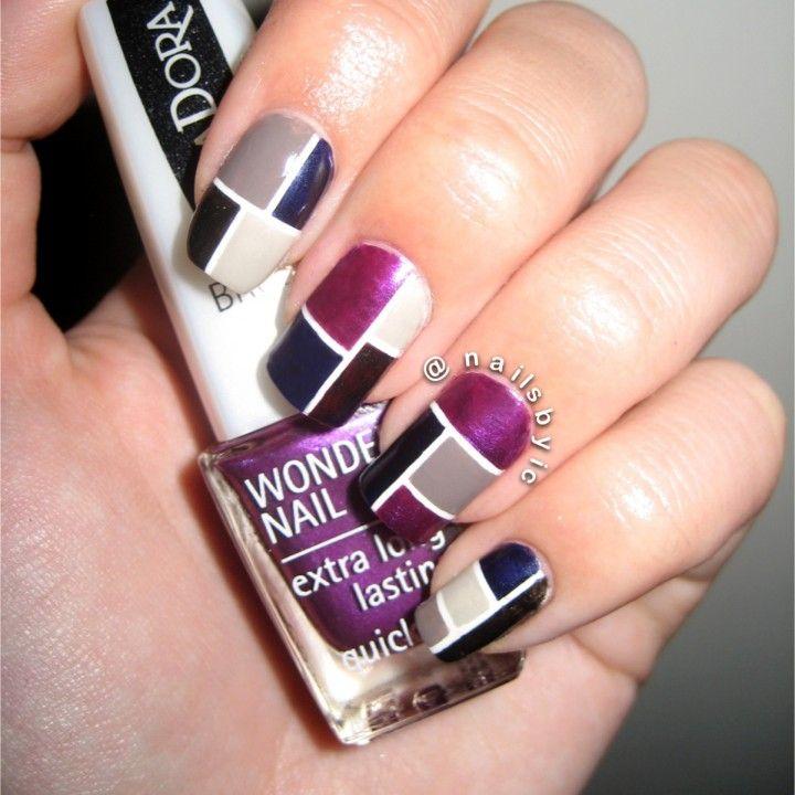Block nail art images nail art and nail design ideas block nail art images nail art and nail design ideas 29 exceptional color block nail art prinsesfo Image collections
