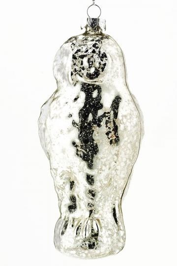 Mercury Glass Owl Ornament - Set of 4