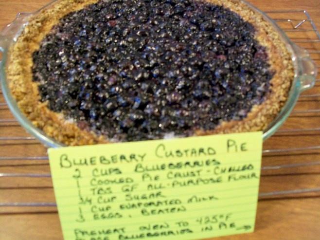 GF Blueberry Custard Pie | Gluten Free Recipes | Pinterest