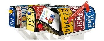 license plate mailboxes