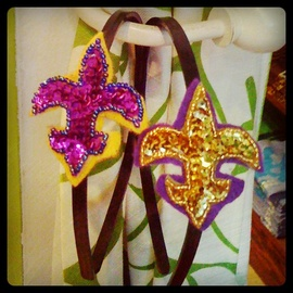 LSU Fleur de Lis headbands from Fleurty Girl! So cute!