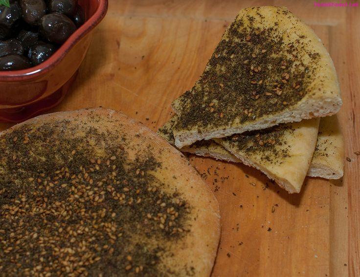 Manakish Zaatar (Manakeesh) | Food Recipes | Pinterest
