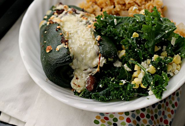 Eats Well With Others: Recipe: Beer Bean- and Cotija-Stuffed Poblanos