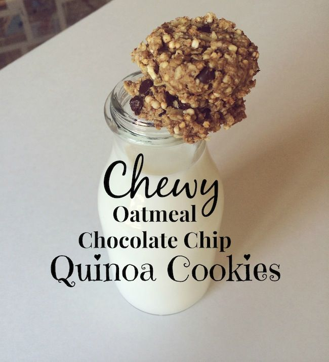Chewy Chocolate Chip Oatmeal Cookies | Meatless Mondays | Pinterest