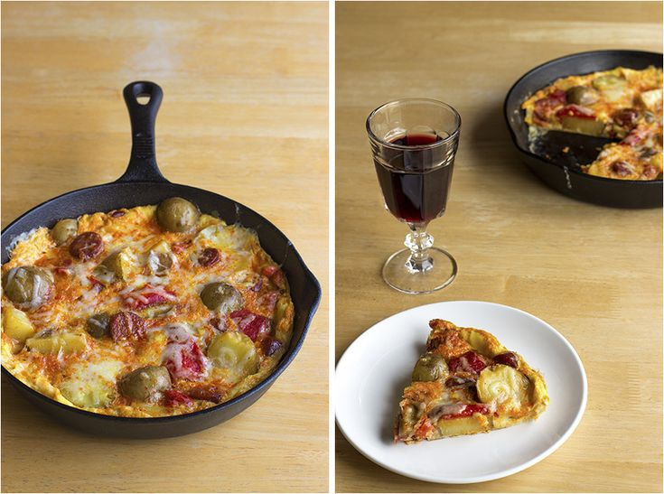 Spanish Tortilla with Red Peppers, Chorizo and Manchego (c)2013 La ...