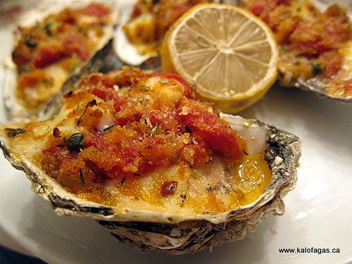 """Baked Oysters """"Emmy"""" With Tomatoes, Capers"""