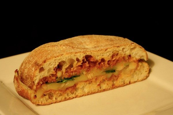 Sundried Tomato Pesto Panini...can add grilled chicken for a heartier ...