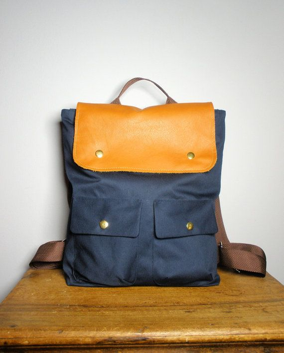 ... / Backpack/ Women/ Laptop Bag/ Tan Leather/ Back To School/New York