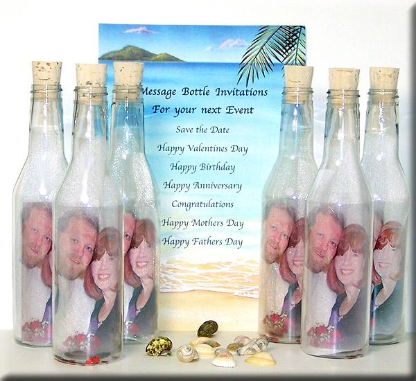 message in a bottle wedding invitation invitations place cards frie