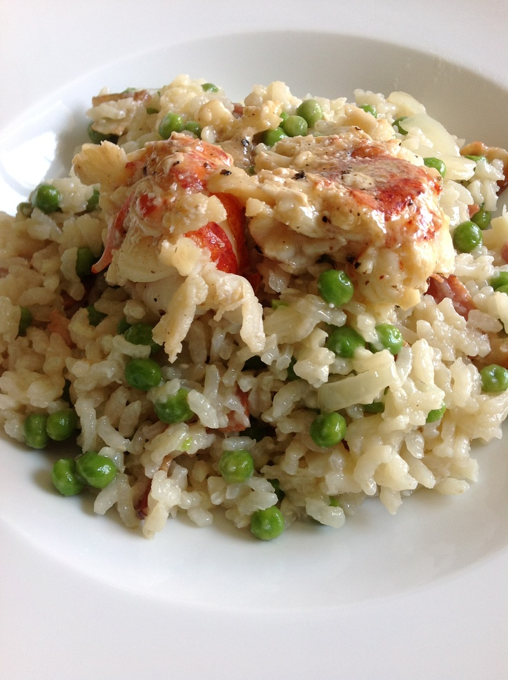 Baked Bacon and Pea Risotto | recipes | Pinterest