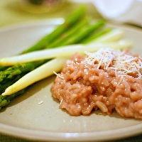 Risotto Al Barolo + Green Crostini by Smitten Kitchen