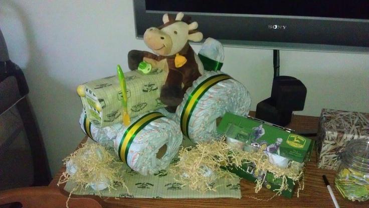 John Deere Diaper Tractor : Tractor baby diaper cake ideas john deere di