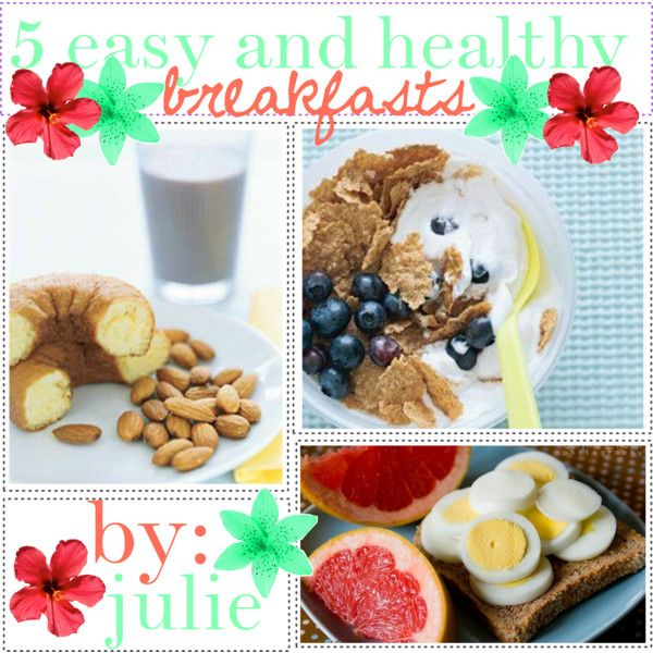 5 Easy Healthy Breakfast Ideas Health Pinterest