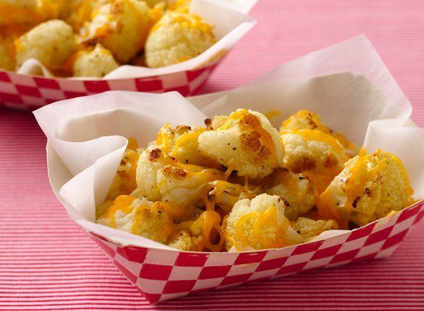 Cheddar Cauliflower Popcorn | Recipe