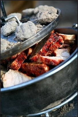 Cooking roast pork in dutch oven. | Dutch Oven | Pinterest