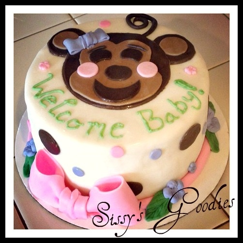 Monkey Baby Shower Cake and Cupcakes!
