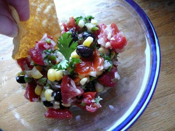Spicy Corn & Black Bean Salsa | Sumptuous Spoonfuls