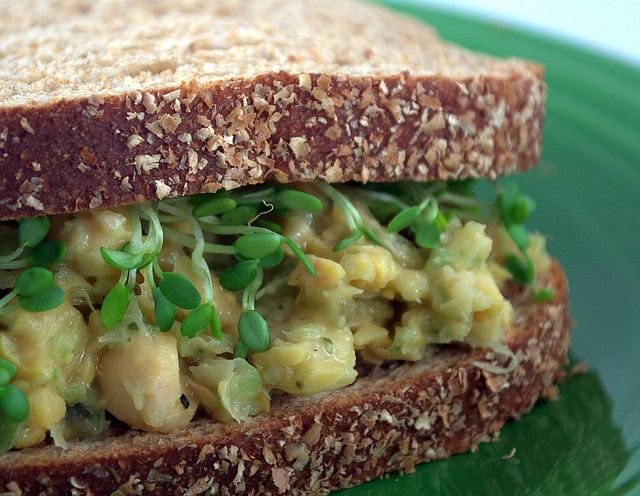 Mock tuna salad by Lindsay @ Happy Herbivore: Delicious but missing a ...