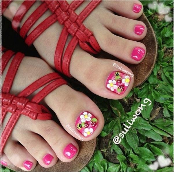 Spring Toe Nail Designs : Spring toenail design toes nails art