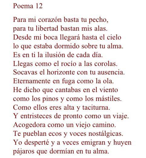 20 poema amor: