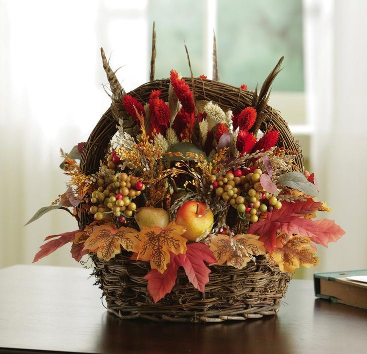 Fall floral basket idea fall decor pinterest for Angela florist decoration