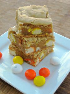 Candy Corn Blondies   Food - Fall   Pinterest