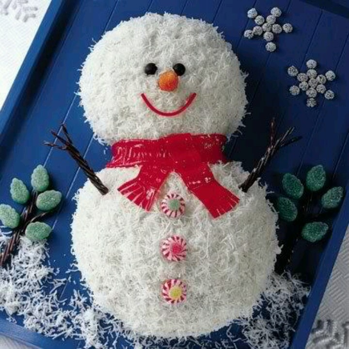 Coconut Snowman | Christmas Ideas | Pinterest