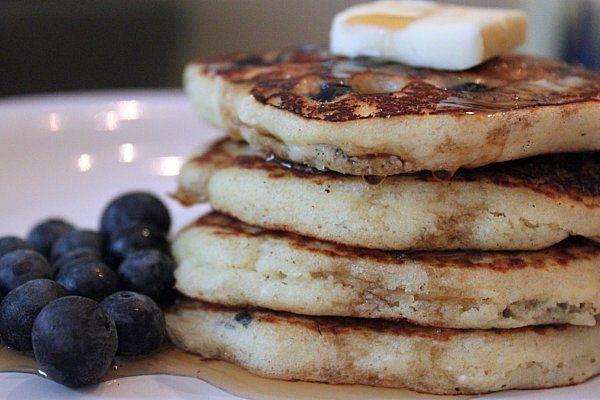 Gluten free blueberry pancakes | Healthy pancake's | Pinterest