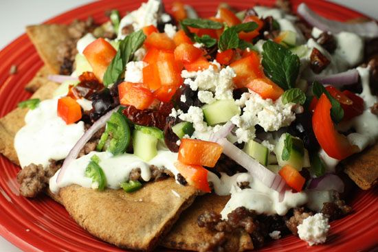 Greek Nachos. Had something similar at a local restaurant . . . but ...